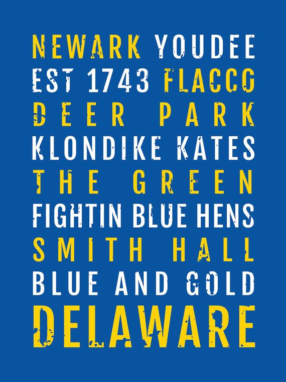 University of Delaware Blue Hens Print  Subway Poster by Sproutjam