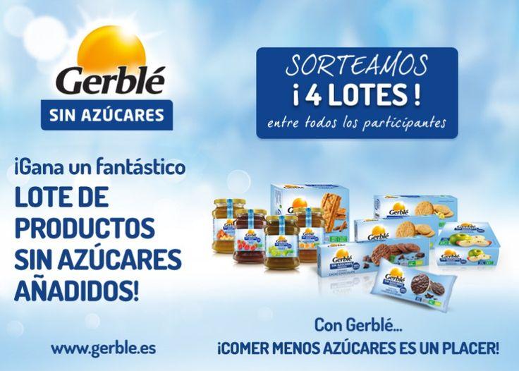Gana uno de los 4 lotes de productos Gerblé que sortean  Promoción válida para España hasta el 07/05/2014.  Más información aquí: http://www.baratuni.es/2014/04/sorteos-gratis-lotes-productos-gerble.html  #sorteos #sorteosgratis #baratuni #gerble