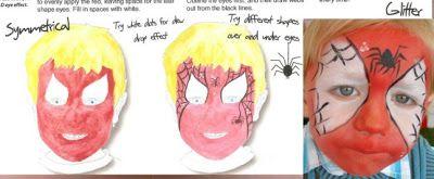 Video Tutorial Esempi Corso Face Painting Trucco Bimbo Make up online Maschera Carnevale Halloween: Come fare Spiderman Uomo Ragno Istruzioni Face Pai...