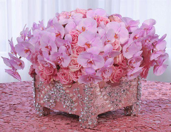 Pretty Pink Centerpieces by Preston Bailey