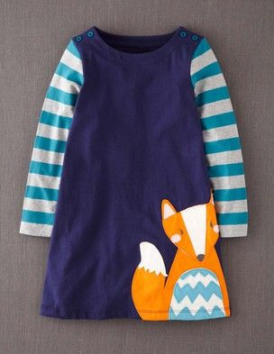 I've spotted this @BodenClothing Fun Appliqué Dress True Navy Fox