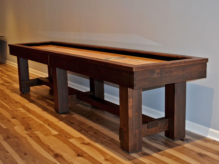 The Breckenridge Shuffleboard Table By Olhausen Billiards Combines Turn Of  The Century Arts U0026 Crafts Design Elements With Clean Modern Lines To Create  A Con