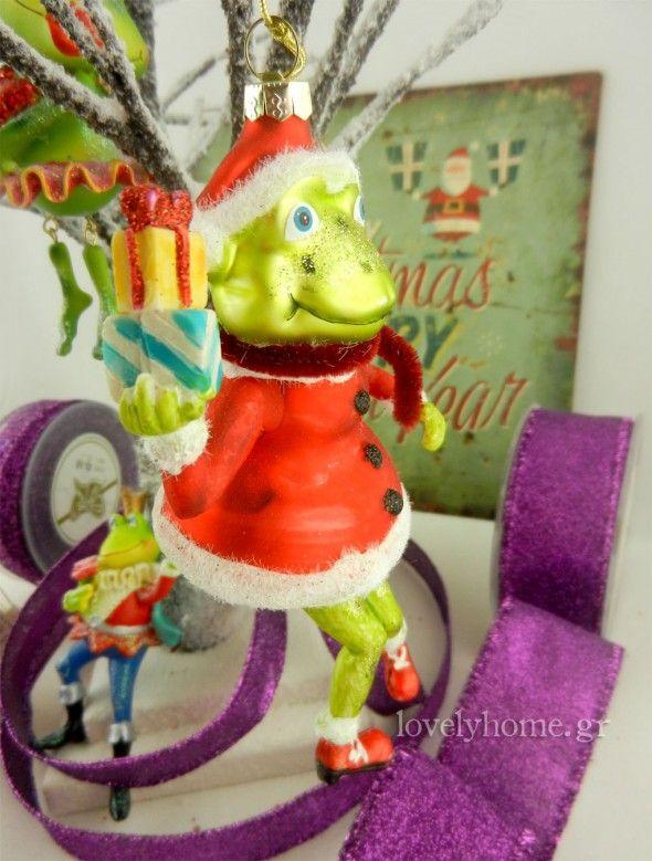 Βάτραχος στολίδι χριστουγεννιάτικο