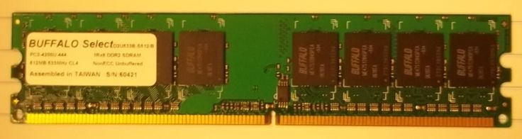 Buffalo D2U533B-S512 512MB PC2-4200 DDR2-533MHz non-ECC 240-Pin 1.8V DIMM -- Used