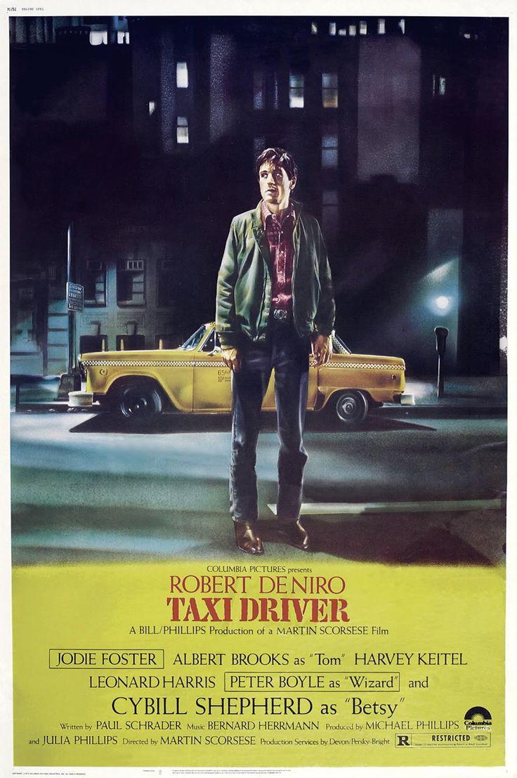 Taxi Driver (1976), com Robert De Niro como protagonista é um dos filmes mais famosos de Martin Scorsese e venceu a Palma de Ouro no festival de Cannes.