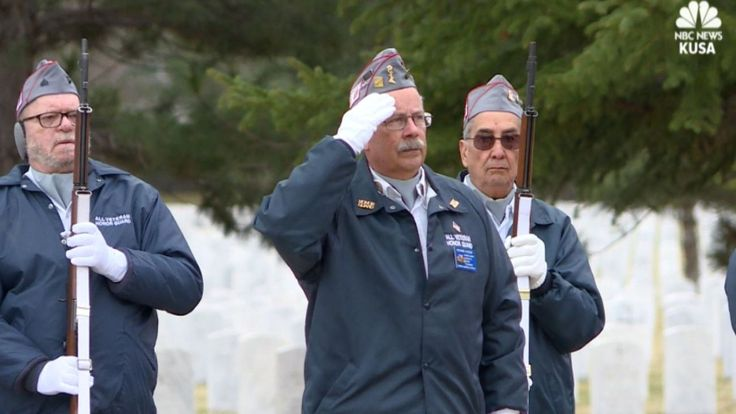 Dozens of strangers turned out to honor a Korean War veteran as he was laid to rest at Colorado's Logan National Cemetery Wednesday.