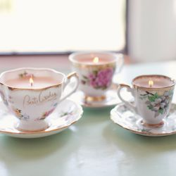 Time for tea! Tea party DIY ideas  tutorials like these gorgeous vintage teacup candles