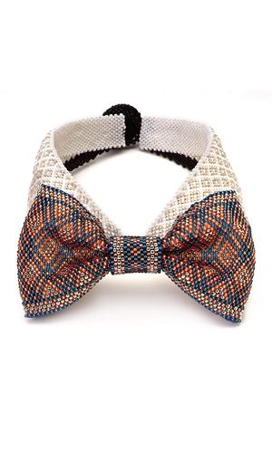 Bow-Tie with Seed Beads Something for the men. How about this for a young mans special occasion?