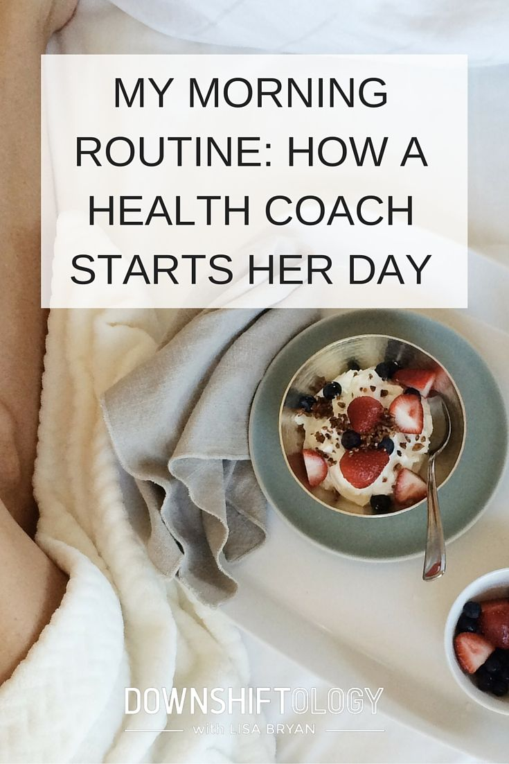 "As a health coach, I get asked all the time if I have a morning routine or a morning ritual? And the answer - yes! Here's a little ""behind the scenes"" on how I start my day."