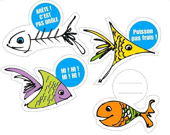 20 best poissons d 39 avril imprimer gratuitement 1er avril images on pinterest bunting bag - Poisson a imprimer gratuitement ...