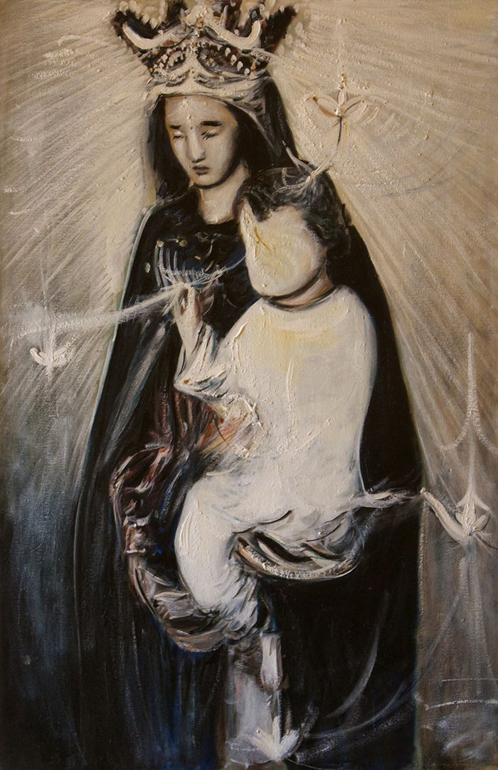 Divine Mother and ChildBuy Paintings atwww.bluethumb.com.au/alexcarletti