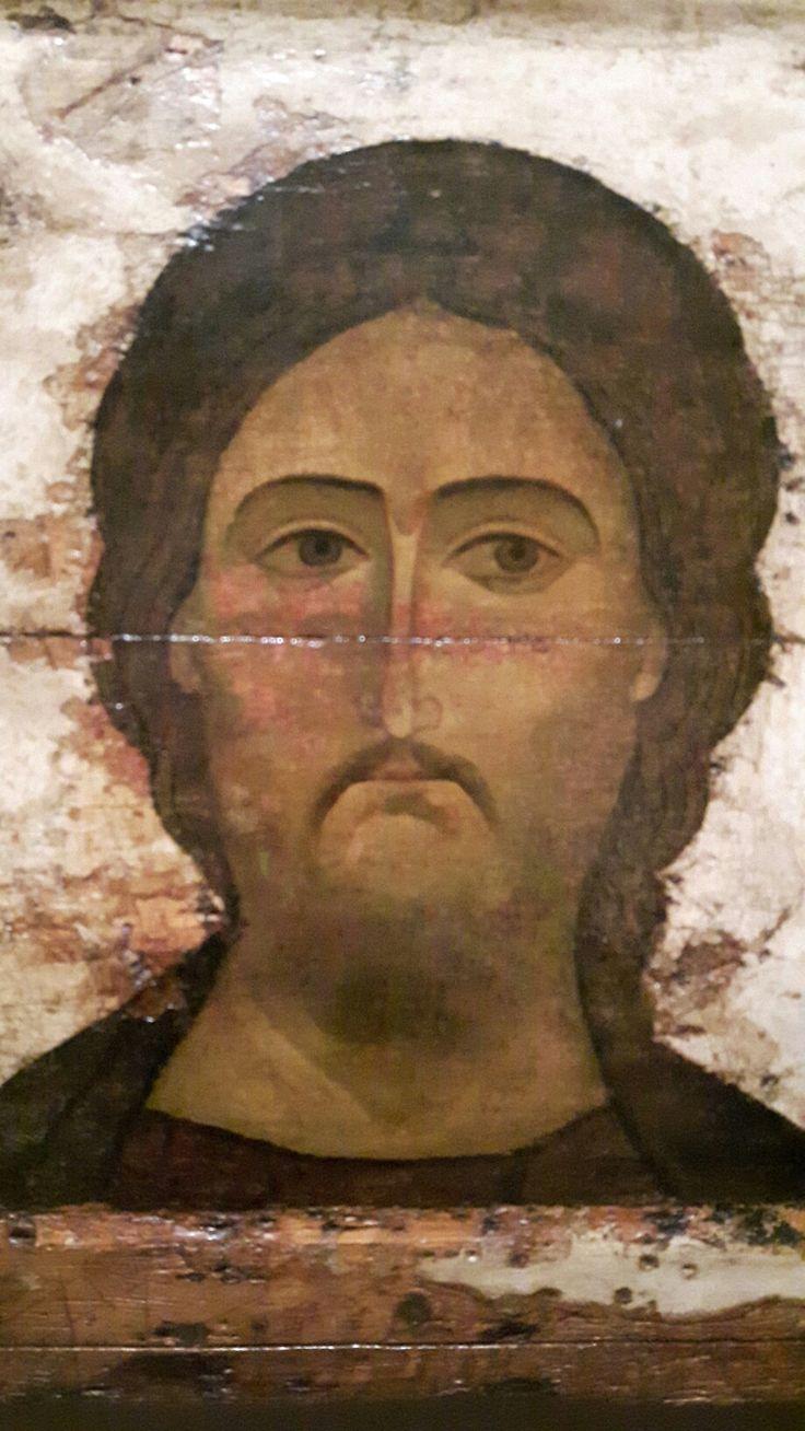 Dettaglio di Deesis. 1200 - 1225 Russia di Vladimir Suzdal. Tretyakov Galleria Mosca.