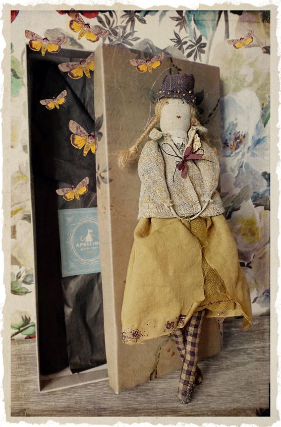 Noro collection hand made doll by Apolline à Paris using fall 2014 fabrics
