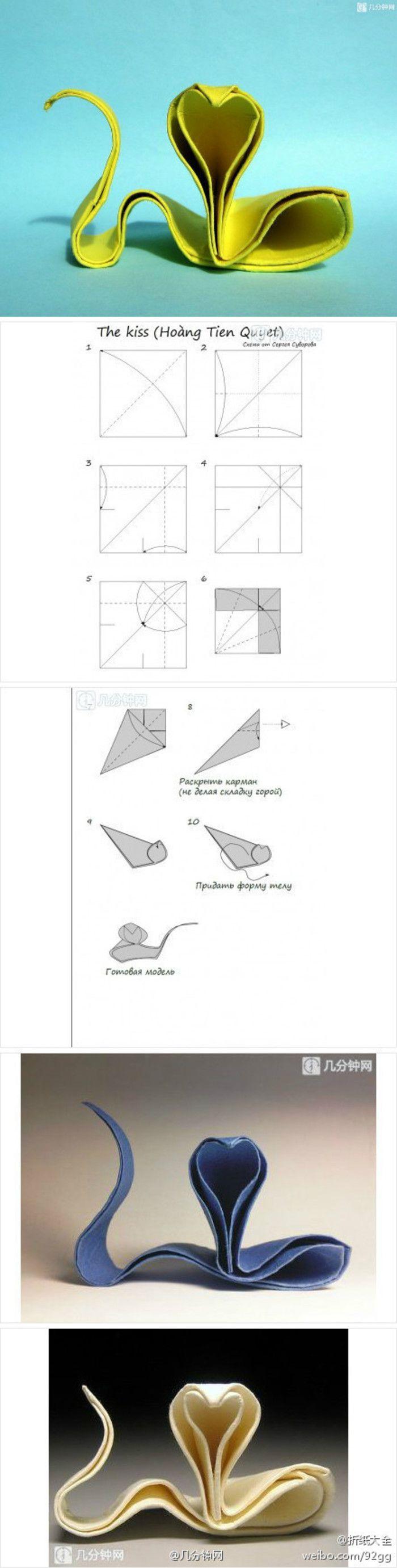 越南阮洪强作品,极简洁的折纸眼镜蛇,考验你们整形功力的时候又到了                                                                                                                                                                                 More