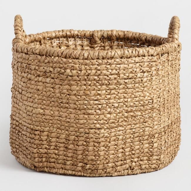 Extra Large Hyacinth Lynnette Tote Basket - $45 World Market. They have some great hyacinth baskets.