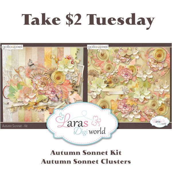 Lara´s Digi World: Take $2 Tuesday from Lara's Digi World
