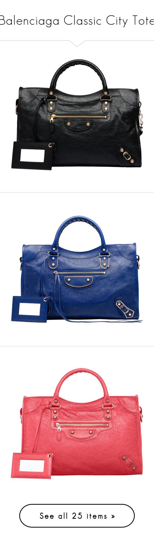 """Balenciaga Classic City Tote"" by euphemiasun97 ❤ liked on Polyvore featuring bags, handbags, balenciaga, bolsos, purses, handbag purse, purse shoulder bag, balenciaga purse, gold handbags and blue handbags"