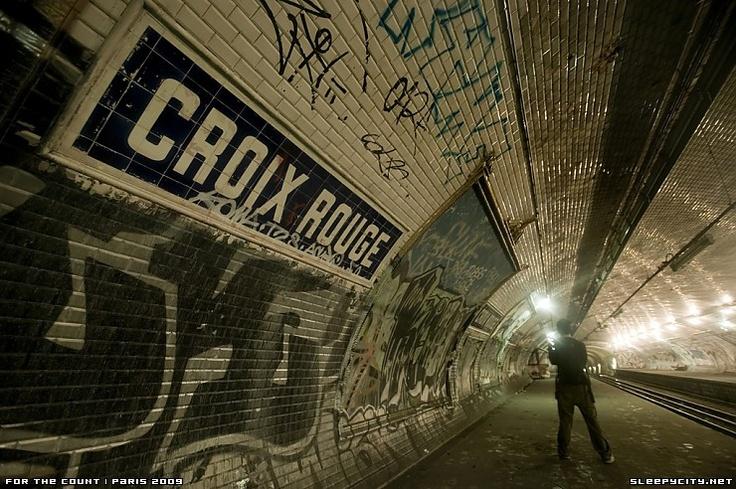 an abandoned paris metro station