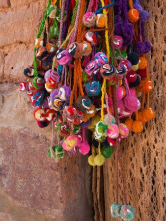 Multi-Colored Hangings on Wall, Tulmas, Purmamarca, Quebrada De Humahuaca, Argentina