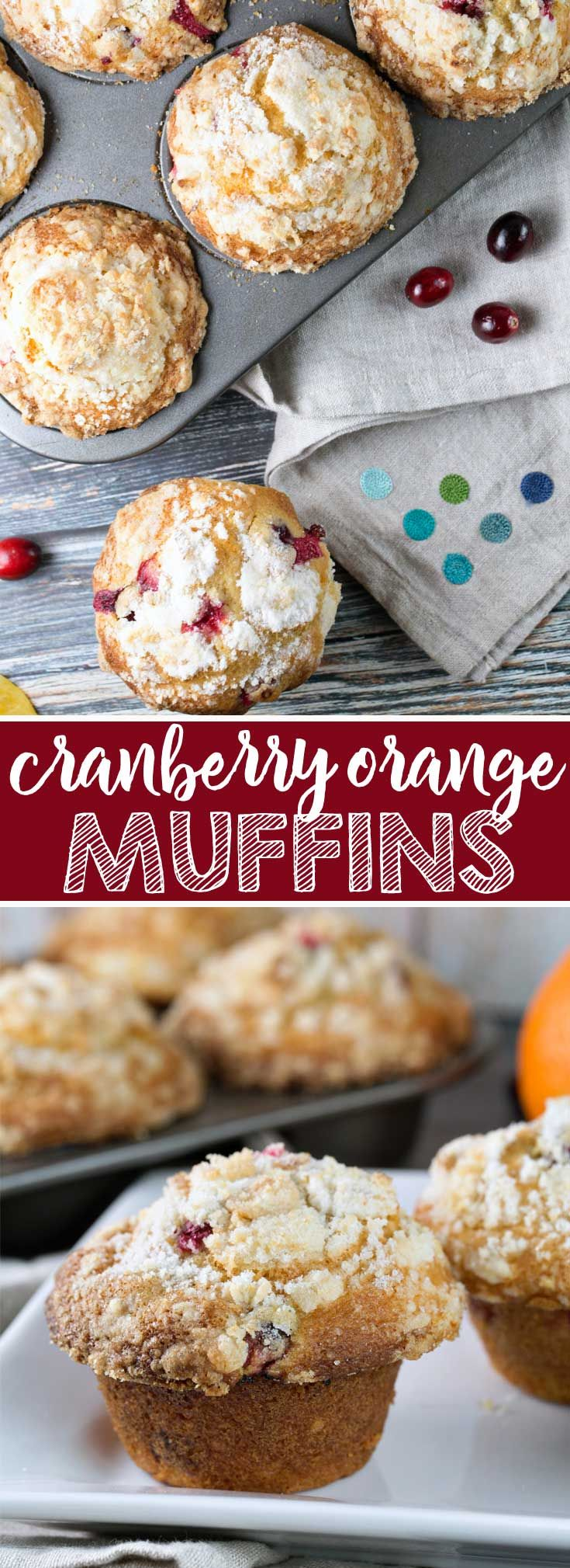 Cranberry Orange Streusel Muffins: tart cranberries and oranges pair perfectly with a sweet crumbly streusel topping in these giant, domed muffins.  The best way to start off a cold, dreary winter morning! {Bunsen Burner Bakery} #muffins #streusel #cranberryorange  via @bnsnbrnrbakery