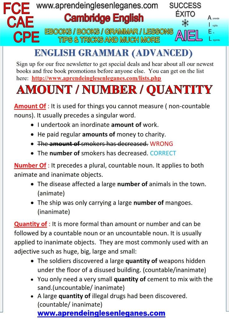 AMOUNT NUMBER QUANTITY KEY WORD TRANSFORMATION FCE CAE CPE PET CAMBRIDGE ENGLISH C1 C2 B2 ENGLISH