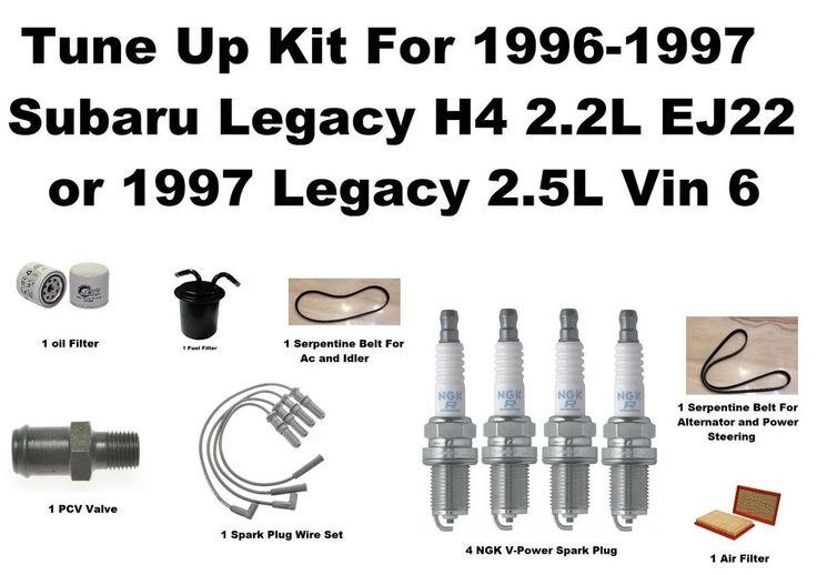 1996-1997 Subaru Legacy Tune Up Kit Spark Plug Wire Set