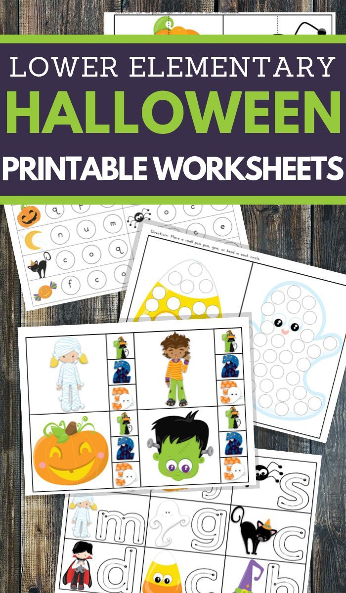 Halloween Math and Literacy Worksheets for K-2 – Printables Galore