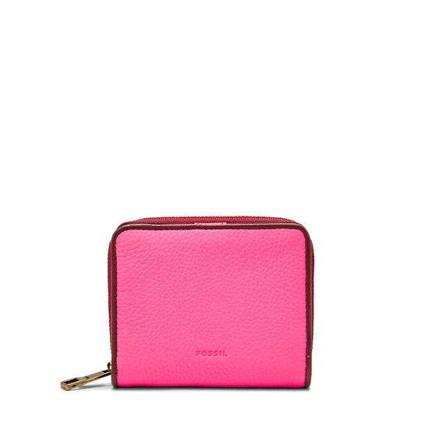Mini is major when it comes to our Emma multifunction. Crafted of soft pebbled leather in neon pink, it's a chic way to hold all your essentials.We've designed this wallet with a special lining to help protect the Radio Frequency Identification (RFID) chips in your credit and debit cards from unwarranted scanning.