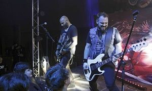 """""""Vlad Telea, who was killed in the blaze, and Alex Pascu of the Romanian metal band Goodbye to Gravity performing before the fire broke out inside Colectiv on 30 October."""" *** A. P. also died this evening, at the airport in Paris; the 51st one..."""