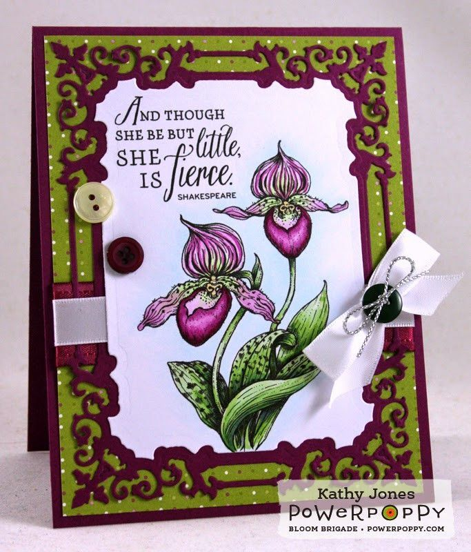 Orchids Rock Stamp Set | Power Poppy by Marcella Hawley