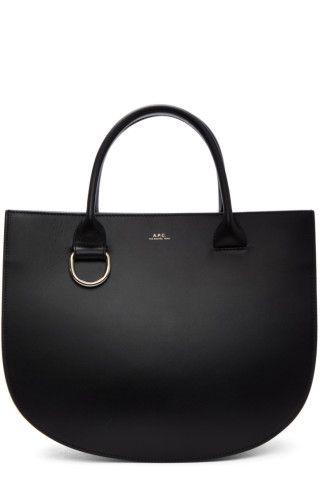 A.P.C. - Black Leather Marion Bag  f0fd57bac1ccf