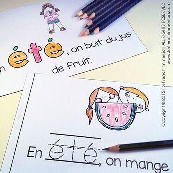For French Immersion Emergent Reader - Summer - EN ÉTÉ - en français
