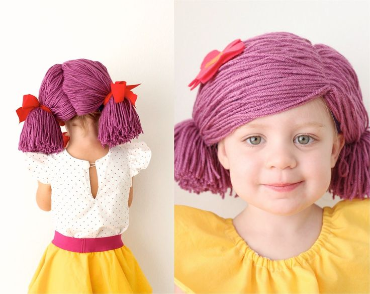 She says this is easy, but..... TUTORIAL: How to Make a Yarn Wig, 4 ways   MADE