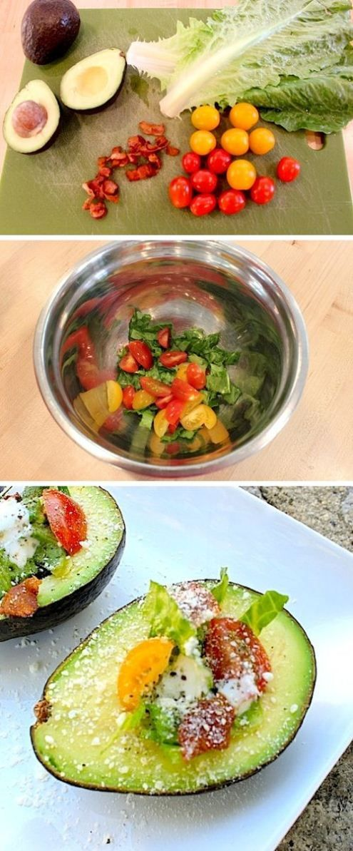 I know my mother would love this. A new twist to avacado salad.