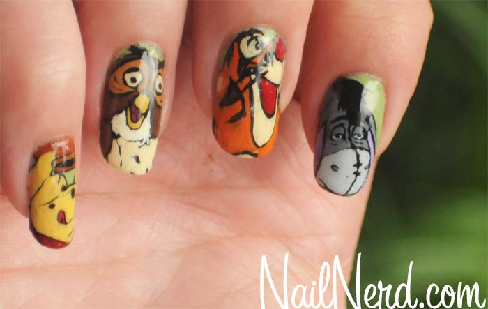 Pooh nailsNails Art, Art Manicures, Awesome Nails, Fun Nails, Pooh Manicures, Disney Nails, Nails Ideas, Eeyore Nails, Pooh Nails