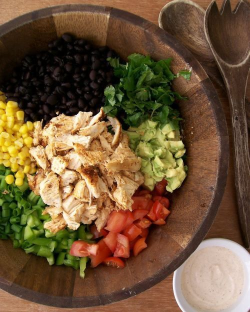 Southwestern Chopped Chicken Salad [RECIPE] and other salad ideas