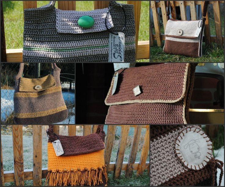 Originálne hačkované kabelky,tašky pre ženy od Daniely
