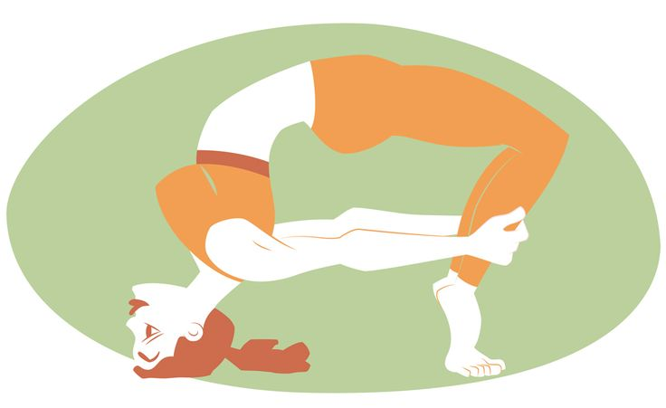 Yoga Project. Viparita Prapada Dhanurasana, Inverted Tiptoe Bow Pose.