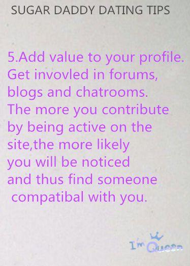 Sugar dating tips profile