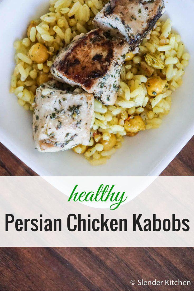 Healthy Persian Chicken Kabobs