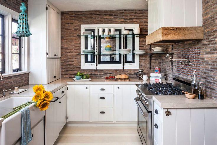 tiling over brick kitchen eclectic with backsplash modern french presses