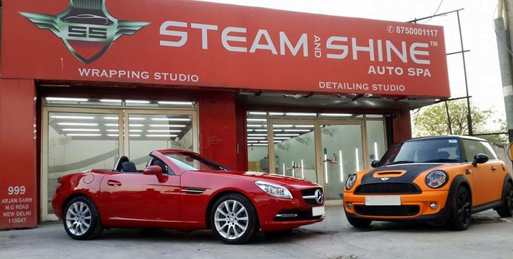 #Mercedes SLK 350 opti coated, #MiniCooper S detailed, only at #Steam and #Shine #Auto Spa. Contact us at- +91-875000-1117. Visit our website- http://steamandshine.in