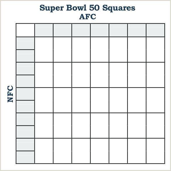 Super Bowl Boxes Template Excel Super Bowl Superbowl Squares Football Template