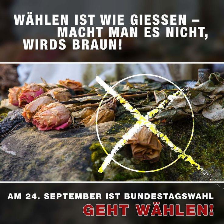 Am Sonntag den 24. September habt Ihr die Wahl!  #bundestagswahl2017 #btw17 #bundestagswahl #gehwählen #jedestimmezählt #meinewahl #machdeinkreuz #freiheit #keinrassismus #toleranz #demokratie #wahlsonntag #wahl2017 #berlin #wählengehen #vote #placestobe #erststimme #zweitstimme #democracy #wahl #2017 #nichtwählenistkeineoption