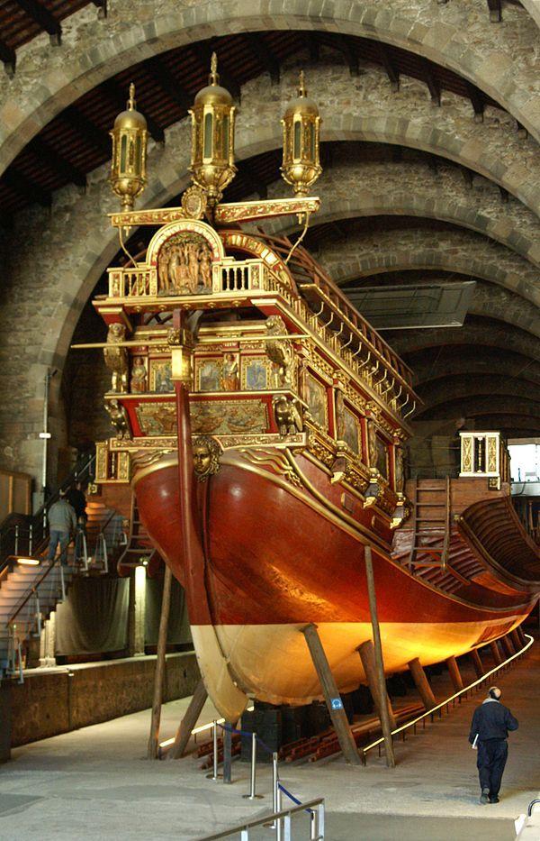 Real Galley Replica - Museu Marítim, Drassanes, Barcelona - Catalonia.