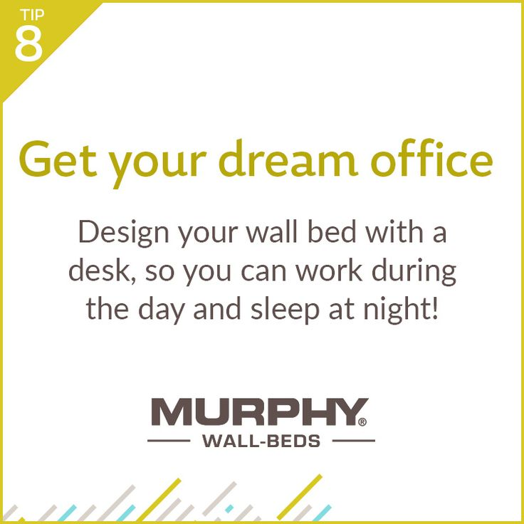 A dream office is possible even if you think you don't have enough space! Install a Murphy Wall-Bed and make one room function as two.