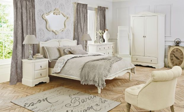shabby grey bedrooms | Interior Shabby Chic Bedroom ...