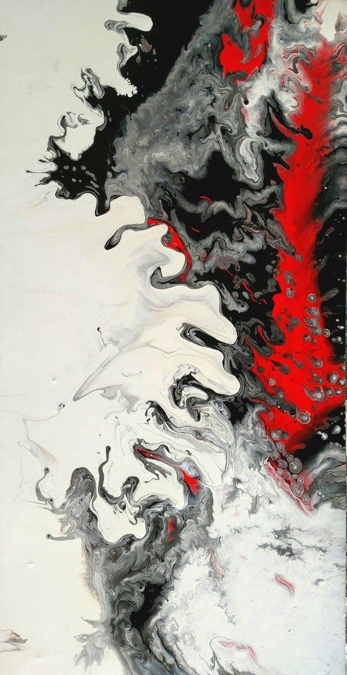 Redandblack Originalpainting Acrylicabstract Paintingoncanvas Abstract Art Painting Diy Abstract Art Wallpaper Abstract Art Paintings Acrylics