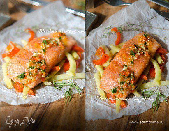 Этот рецепт (скорее способ приготовления) я нашла на одном англоязычном сайте. Автор утверждал, что лосось, приготовленный таким способом, остается очень сочным и нежным, не теряя своего естественн...