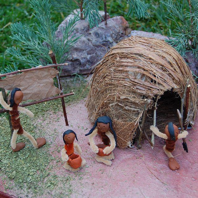 Native Woodland Plants: Indian Shoebox Diorama